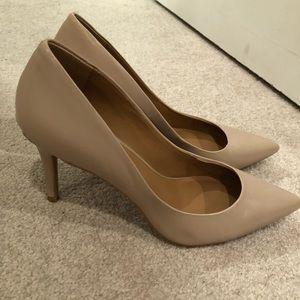 Calvin Klein nude heels 8.5